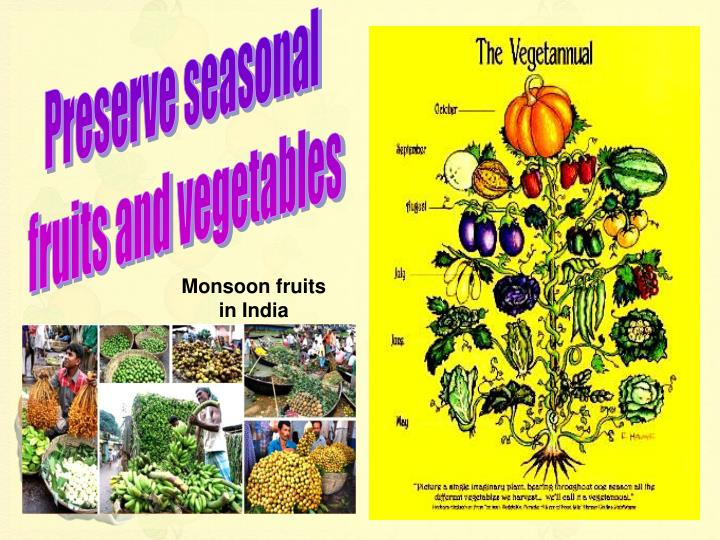 Preserve seasonal