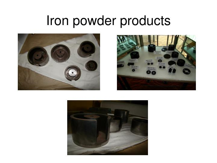 Iron powder products