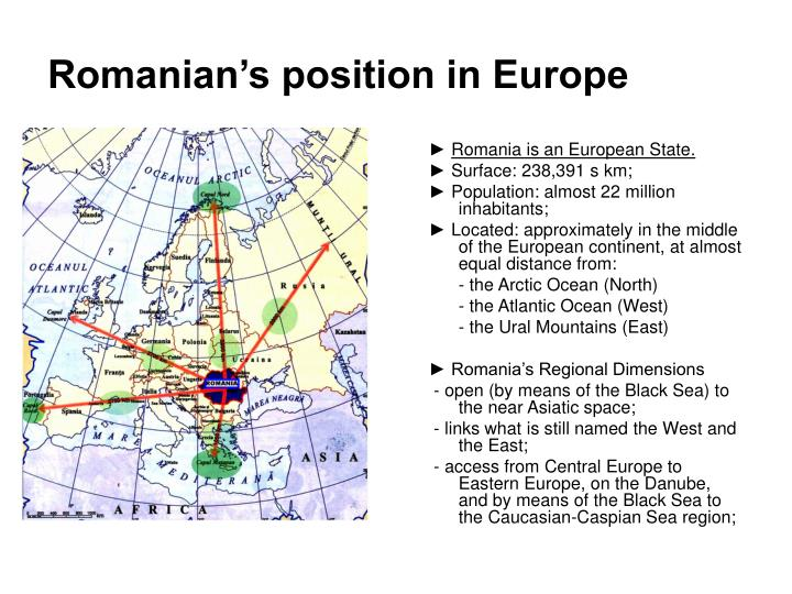 Romanian's position in Europe