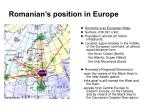 romanian s position in europe