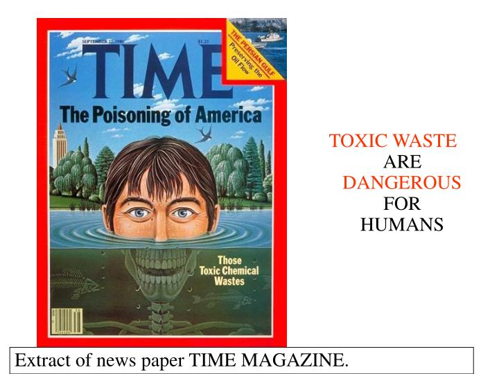 Extract of news paper TIME MAGAZINE.