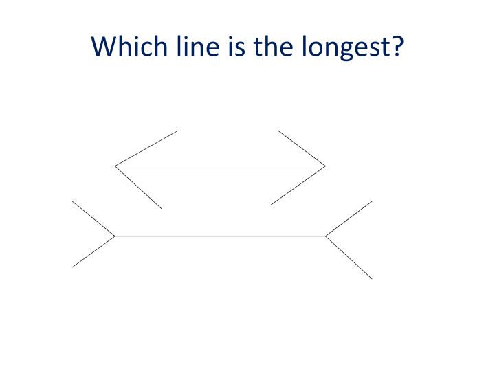 Which line is the longest?