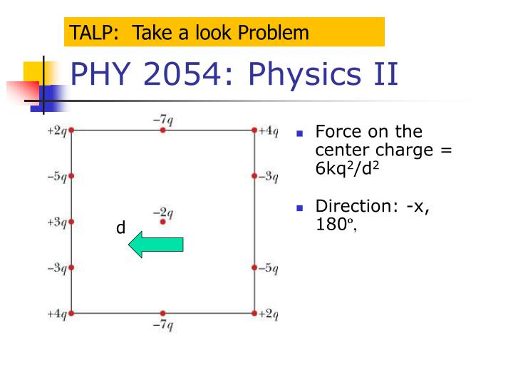 TALP:  Take a look Problem