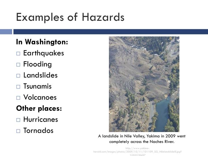Examples of hazards