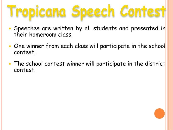 Tropicana Speech Contest