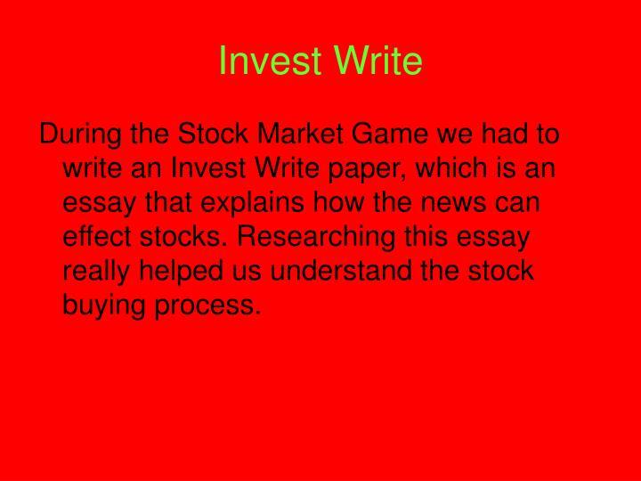 Invest Write