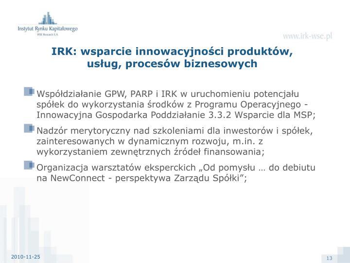 IRK: wsparcie