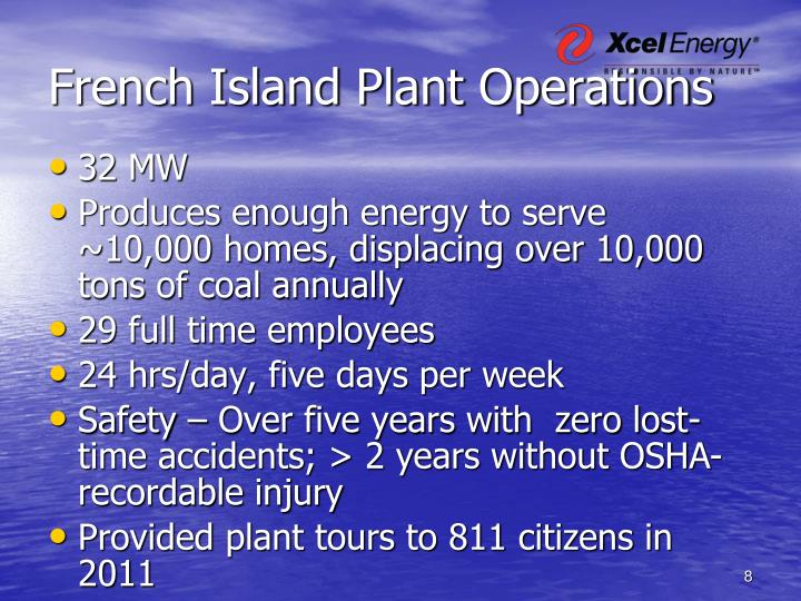 French Island Plant Operations
