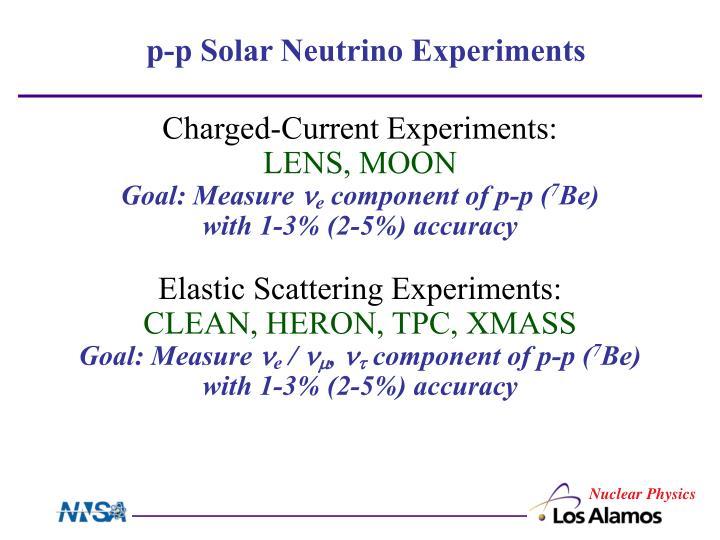 p-p Solar Neutrino Experiments