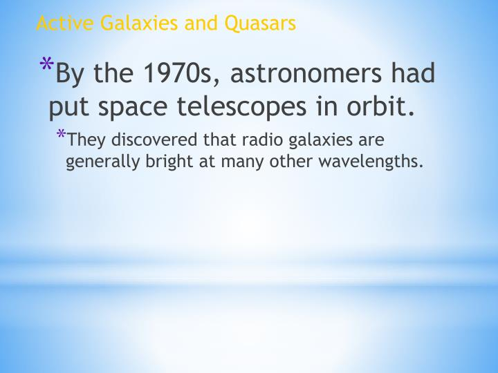 Active Galaxies and Quasars