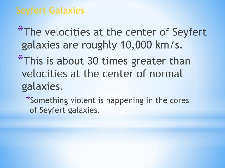 Seyfert Galaxies