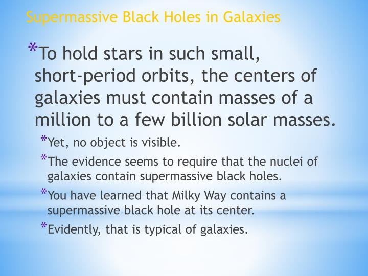 Supermassive Black Holes in Galaxies