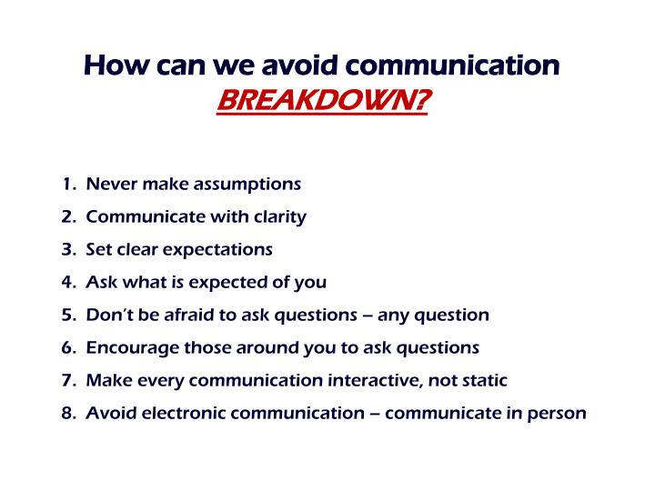 How can we avoid communication