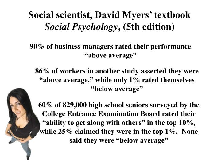 Social scientist, David Myers' textbook