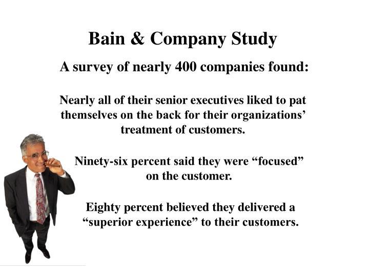 Bain & Company Study