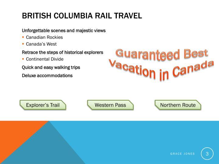 British Columbia Rail Travel