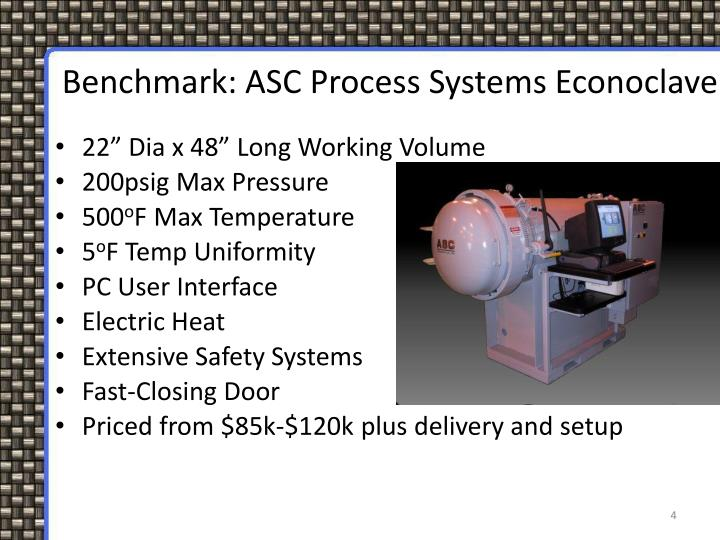Benchmark: ASC Process Systems Econoclave