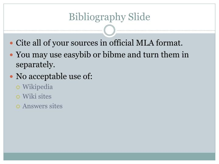 Bibliography Slide