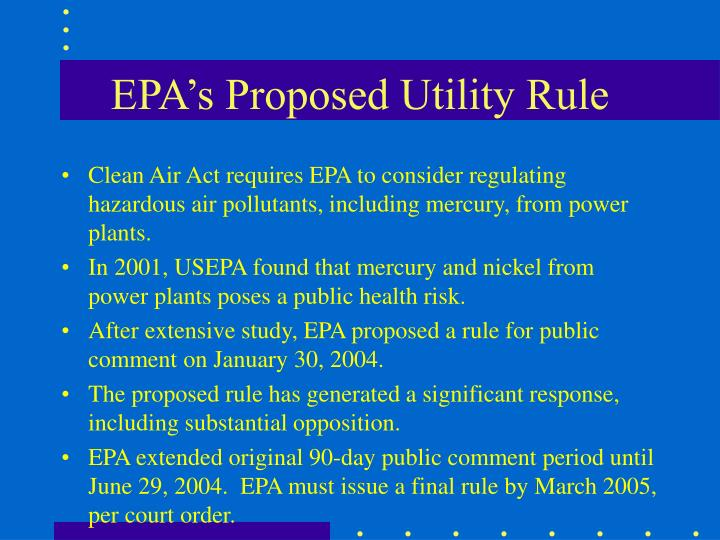 EPA's Proposed Utility Rule