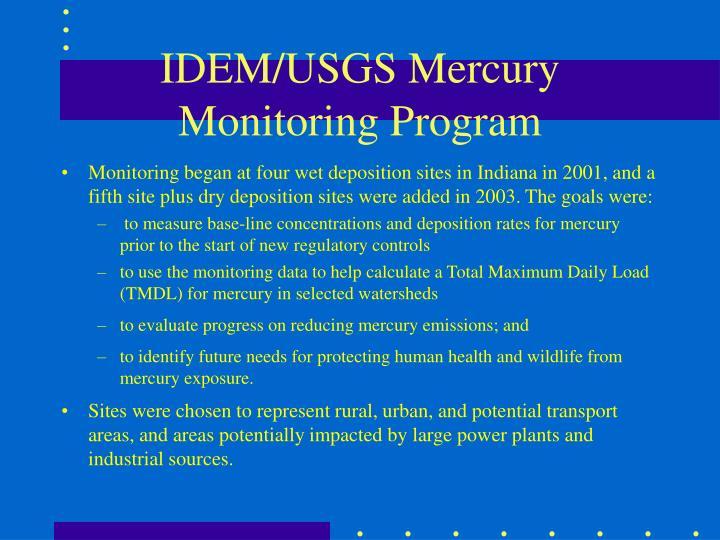 IDEM/USGS Mercury Monitoring Program