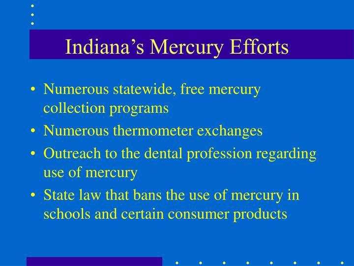 Indiana's Mercury Efforts