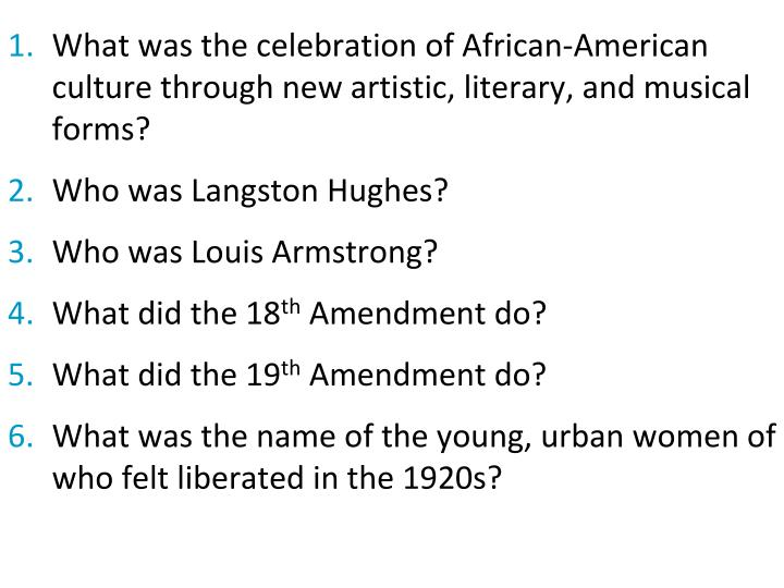 What was the celebration of African-American culture through new artistic, literary, and musical forms?