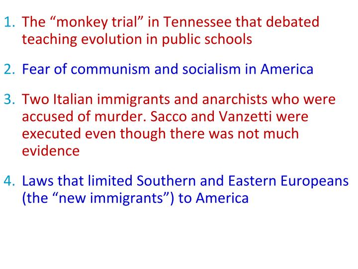 "The ""monkey trial"" in Tennessee that debated teaching evolution in public schools"