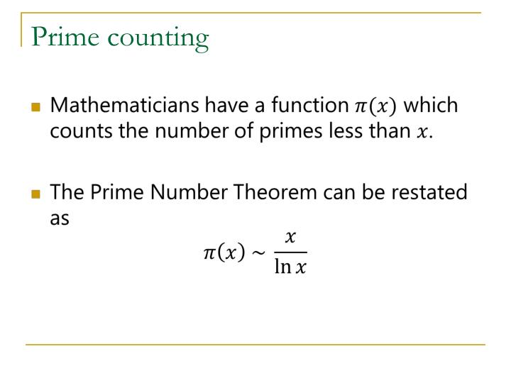 Prime counting