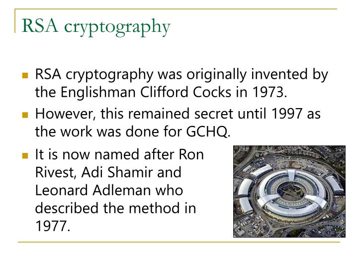 RSA cryptography
