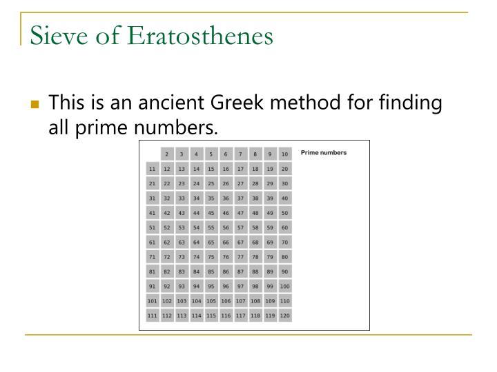 Sieve of Eratosthenes