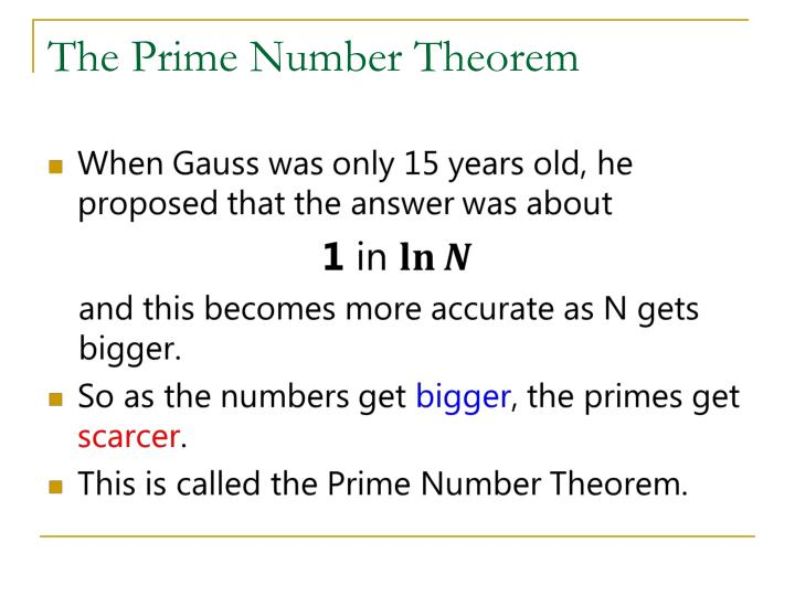 The Prime Number Theorem