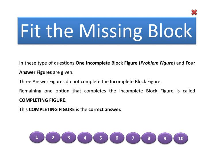 Fit the Missing Block