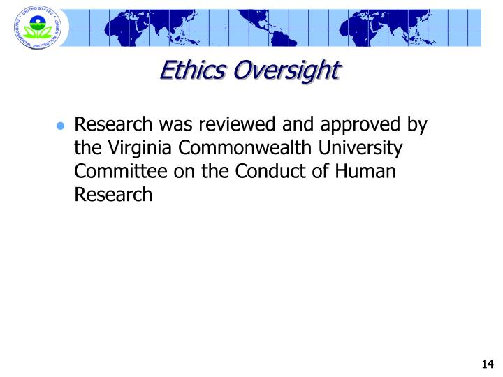 Ethics Oversight