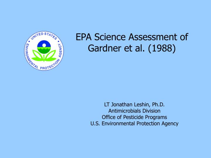 EPA Science Assessment