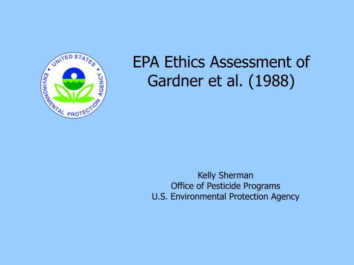 EPA Ethics