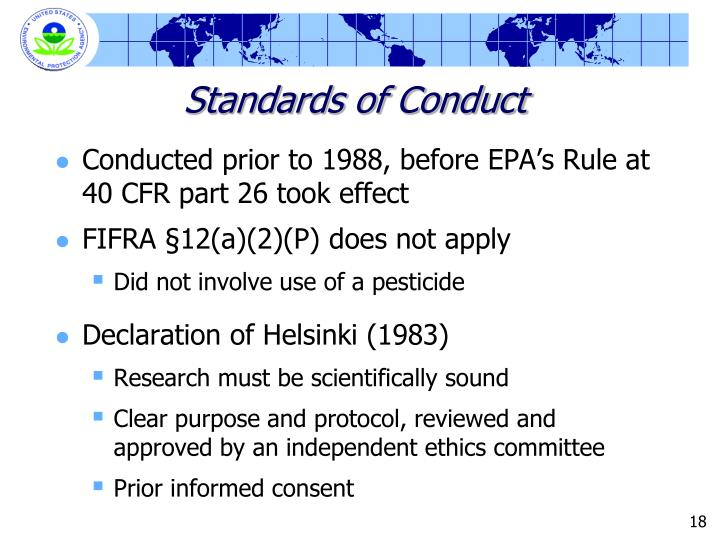Standards of Conduct
