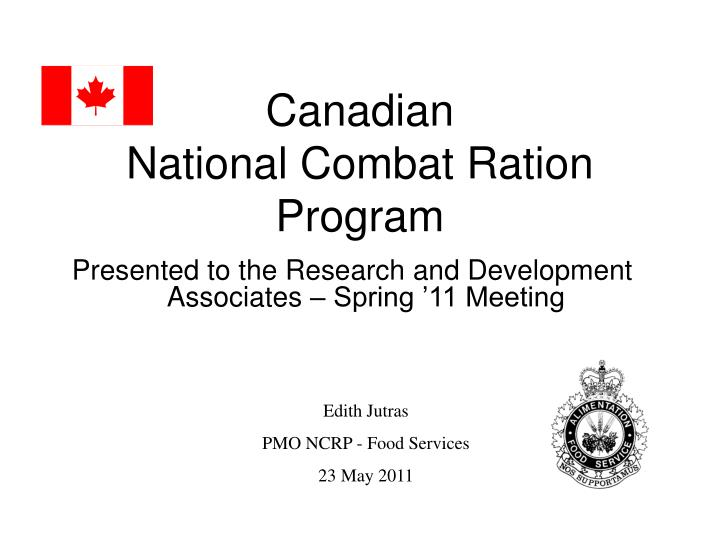 Canadian national combat ration program