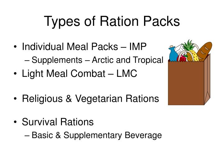 Types of Ration Packs