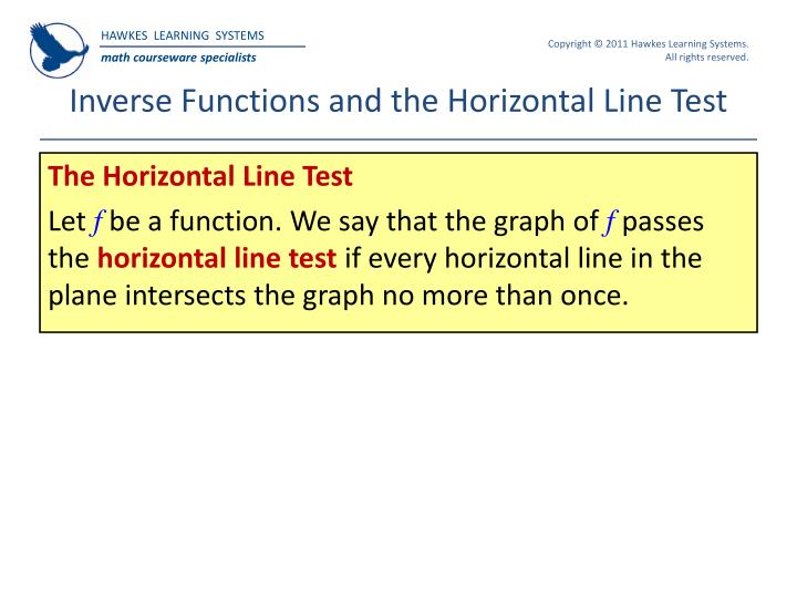 Inverse Functions and the Horizontal Line Test