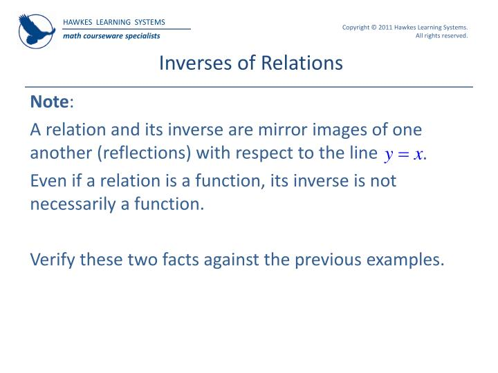 Inverses of Relations