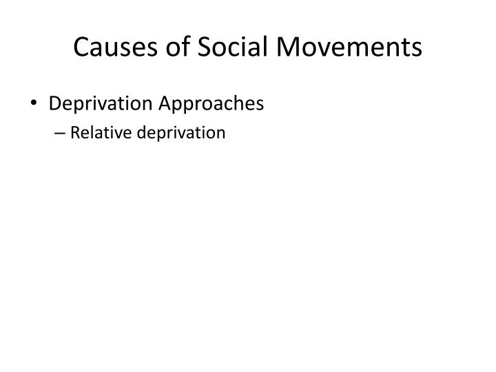 Causes of Social Movements