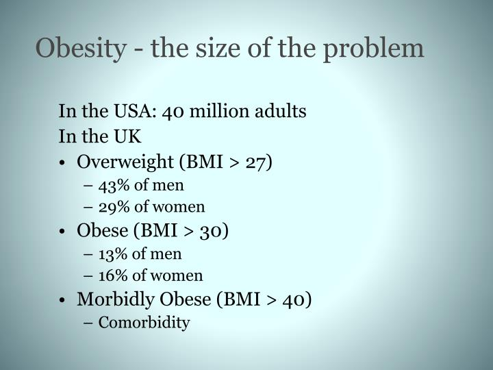 Obesity - the size of the problem