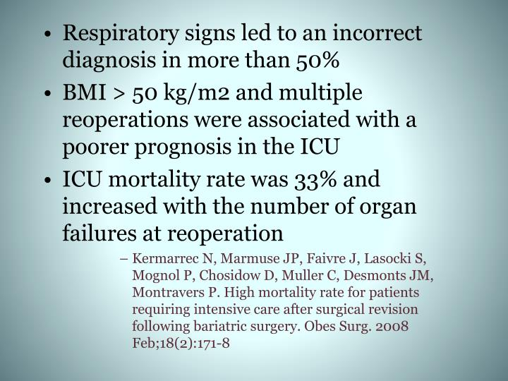 Respiratory signs led to an incorrect diagnosis in more than 50%