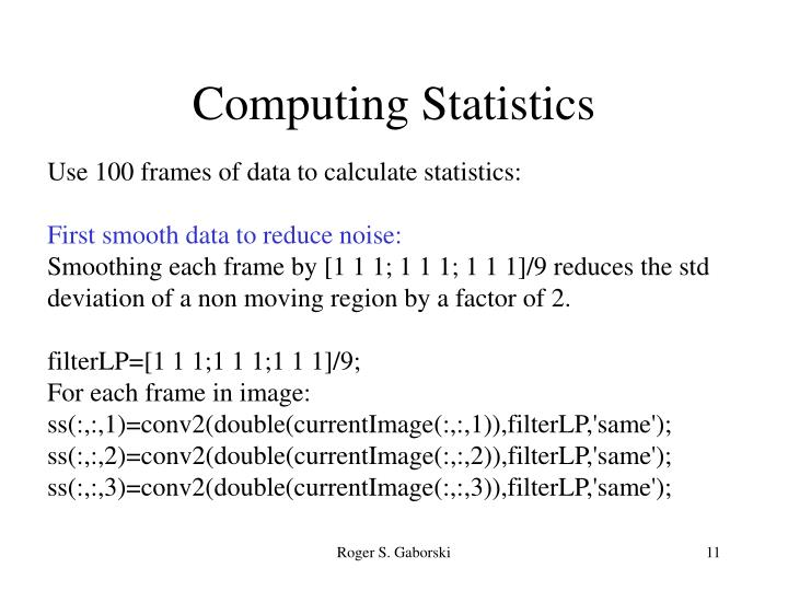 Computing Statistics