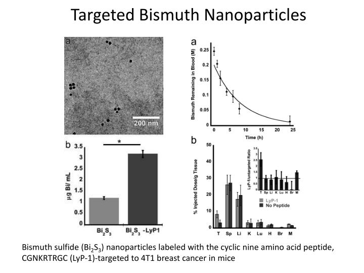 Targeted Bismuth Nanoparticles