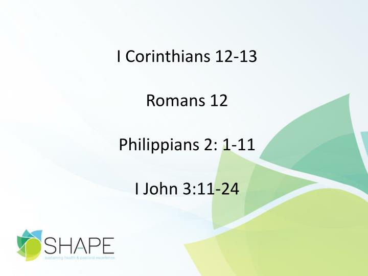 I Corinthians 12-13