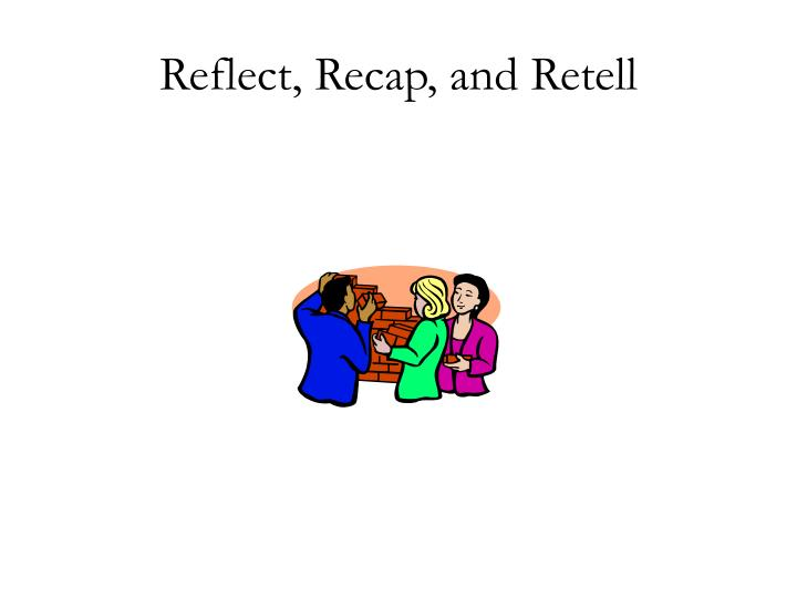 Reflect, Recap, and Retell