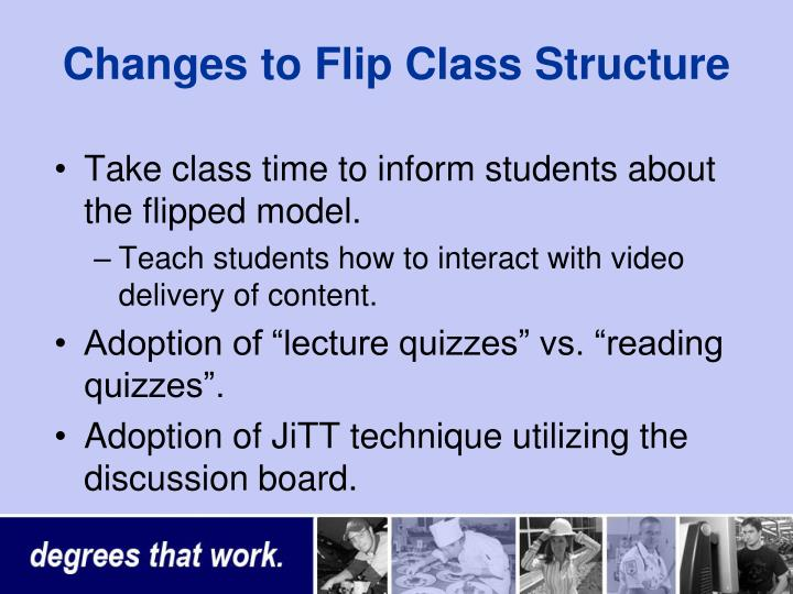 Changes to Flip Class Structure