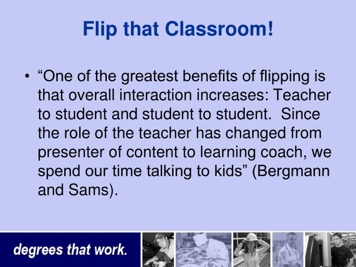 Flip that Classroom!