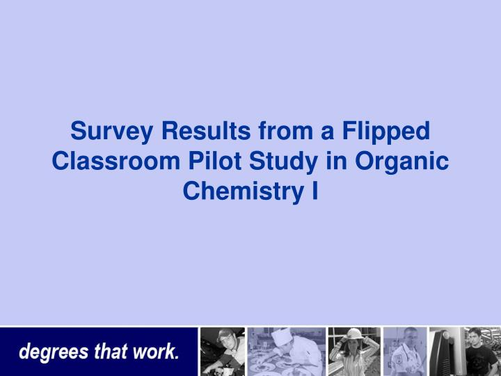 Survey Results from a Flipped Classroom Pilot Study in Organic Chemistry I
